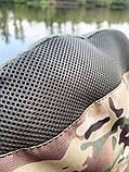 Стул-кресло для рыбалки Mavens R-2 с подстаканником, цвет милитари, чехол в комплекте, фото 3
