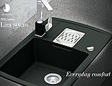 AquaSanita Signa 2083 однорычажный кухонный смеситель хром / черный, фото 4
