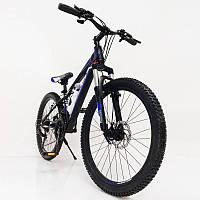 """Стильный алюминиевый спортивный велосипед S300 BLAST-NEW 26"""", рама 16"""", черно-синий, фото 1"""