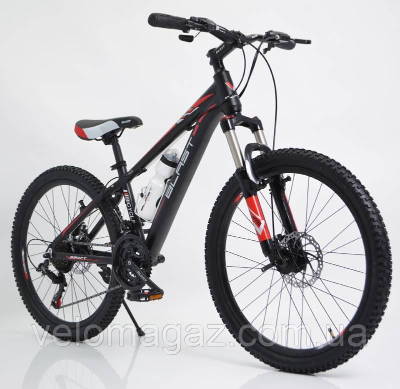 """Стильний алюмінієвий спортивний велосипед S300 BLAST-NEW 29"""", рама 18"""", чорно-червоний"""