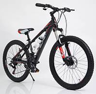 """Стильний алюмінієвий спортивний велосипед S300 BLAST-NEW 29"""", рама 18"""", чорно-червоний, фото 1"""