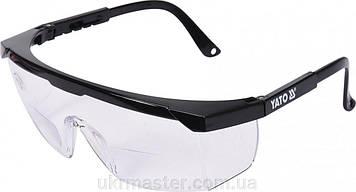 Очки защитные открытые, прозрачные, с коррекцией зрения +1 диоптрия Yato YT - 73611