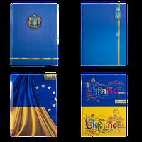 Книга канцелярская UKRAINE, А4, 96 л., клетка, офсет, твердая ламинированная обложка, ассорти