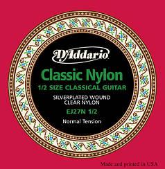 Струны для классической гитары D`ADDARIO EJ27N 1/2 STUDENT CLASSICS NORMAL TENSION 1/2 стандартное натяжение