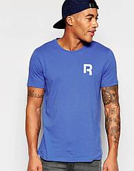 """Мужская футболка """"Reebok"""" синяя с принтом"""