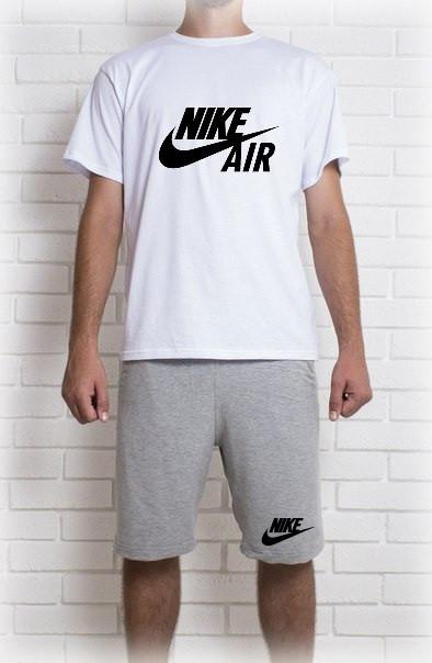Мужской летний комплект Nike Air (шорты + футболка)