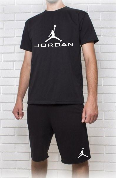 Мужской летний комплект с принтом Jordan (шорты + футболка)