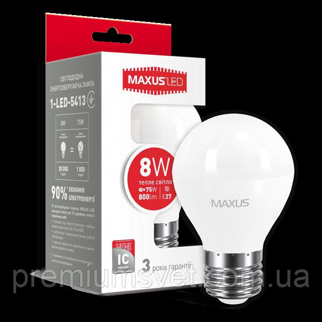 Лампочка светодиодная 1-LED-5413 G45 F  8W 3000K 220V E27