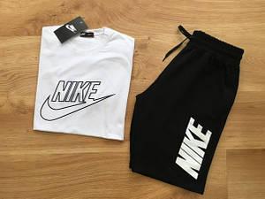 Мужской летний комплект Nike (шорты + футболка) Летний костюм