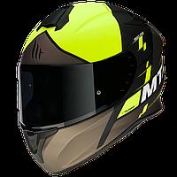 MT Targo Rigel A3 Matt Fluor Yellow, XS Мотошлем интеграл, фото 1