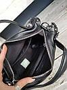 Кожаная женская сумка размером 26х32 см Черная, фото 4
