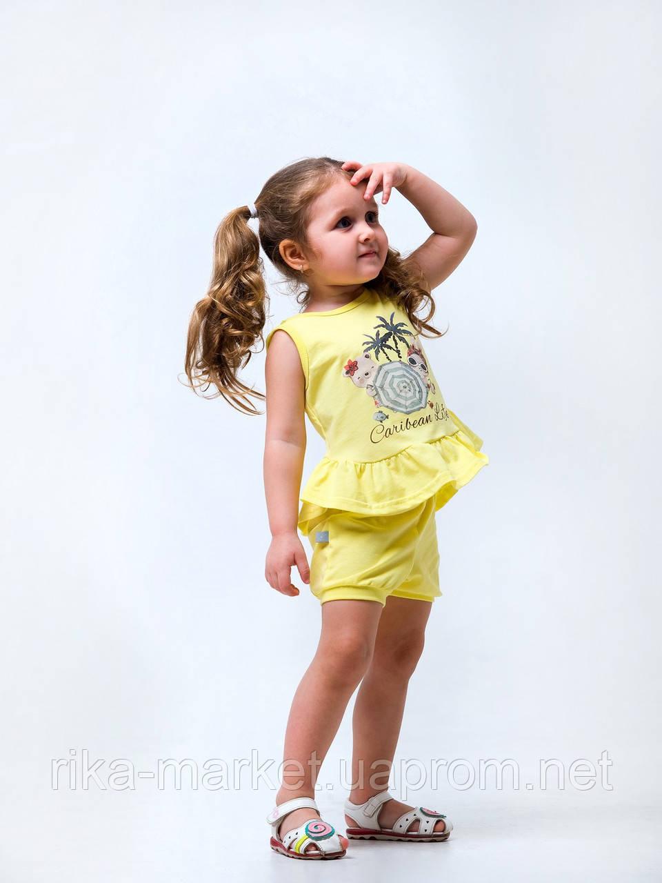 Комплект (майка+шорты) для девочки, Смил, от 6 до 18 месяцев, 113265