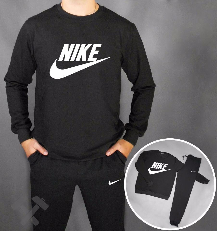 Спортивный костюм черный Nike (большой принт)