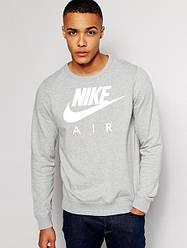 Мужской Свитшот Nike серый (с белым принтом)