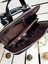Кожаный женский рюкзак размером 33х29х14 см Черный, фото 4