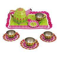"""Игровой набор детской посуды """"Чайный сервиз с подносом"""" Bino (15 предметов)"""