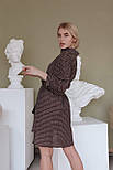 Платье - рубашка с поясом на талии и рукавом фонариком 3/4 vN7974, фото 2