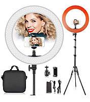Лампа селфи кольцо 55 Вт LED Soft HQ 18 для блоггеров, визажиста, фотографии