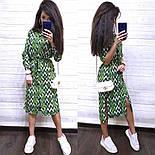 Летнее платье - рубашка миди в цветочный принт с разрезами по бокам vN7984, фото 2