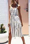 Летний женский сарафан в полоску с расклешенной юбкой vN7987, фото 2