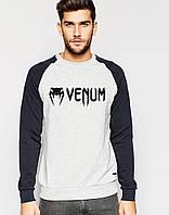 Мужской Свитшот с принтом Venum (черный рукав)