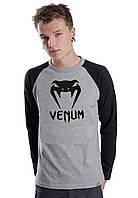 Мужской Свитшот Venum с черным рукавом