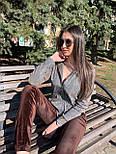Женский бархатный брючный костюм с мастеркой на молнии vN8001, фото 5
