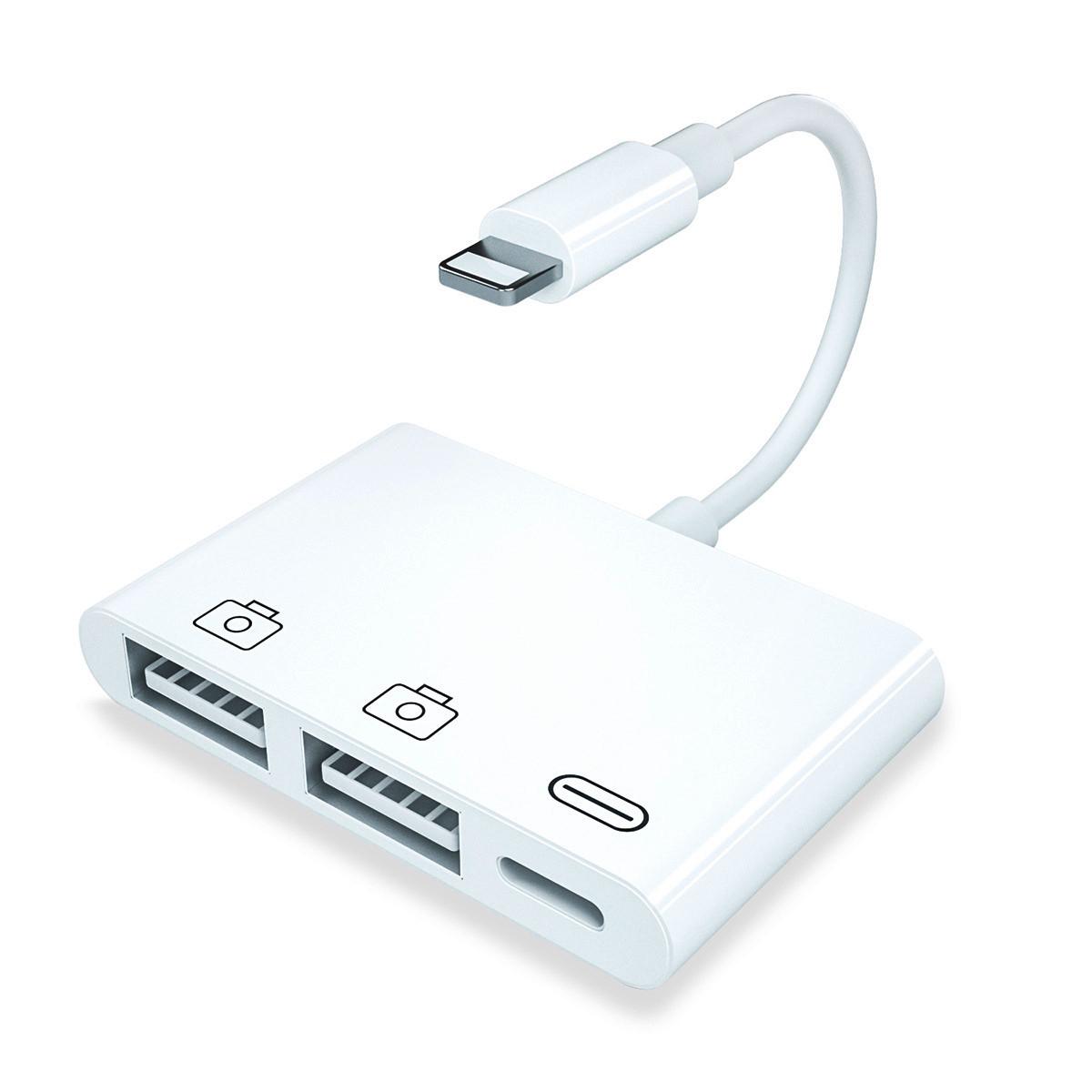 Перехідник Аpple Lightning to OTG usb для iPhone, iPad (MK0W2)
