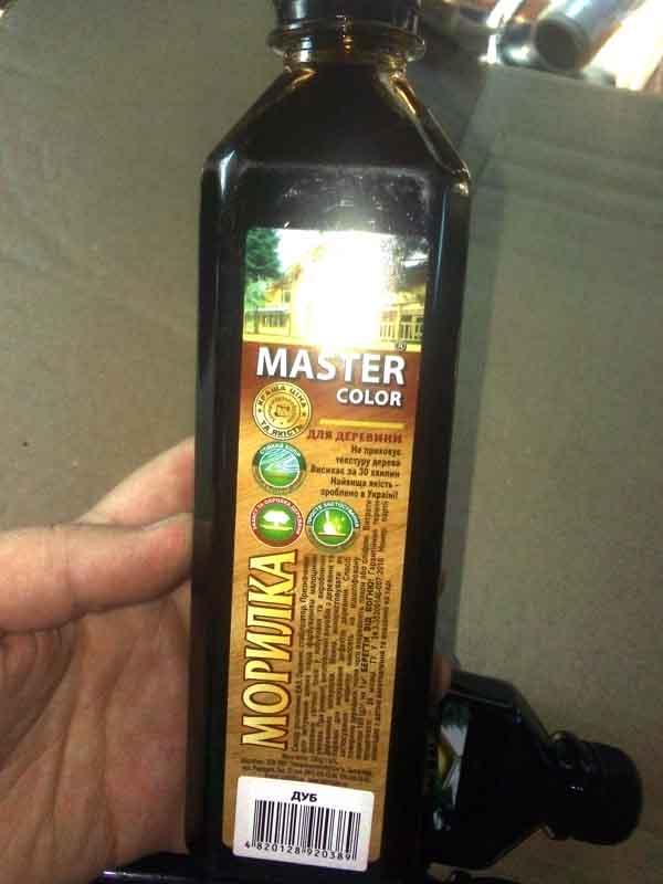 Морилка дуб 0,4л  Master Color (Запорожавтобытхим)