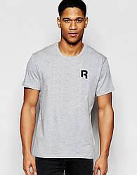 """Мужская футболка """"Reebok"""" серая с принтом"""