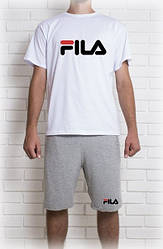 Мужской летний комплект FILA (шорты + футболка)