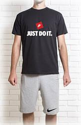 Мужской летний комплект Nike Just Do It (шорты + футболка) Все размеры