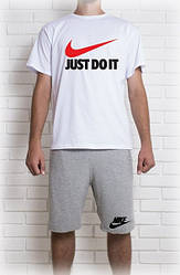 "Мужской летний комплект Найк ""Nike Just Do It"" (шорты + футболка)"
