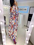 Летнее принтованное асимметричное платье с рубашечным верхом и длинным рукавом vN8092, фото 7