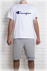 Мужской летний комплект Champion (шорты + футболка)
