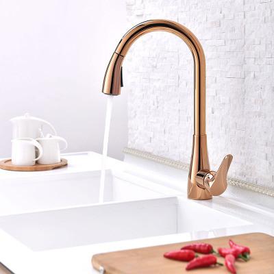 Смеситель для кухни. Модель RD-510. розовое золото