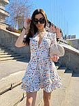 Летнее принтованное платье с вырезом декольте и пышной юбкой с оборками vN8107, фото 2