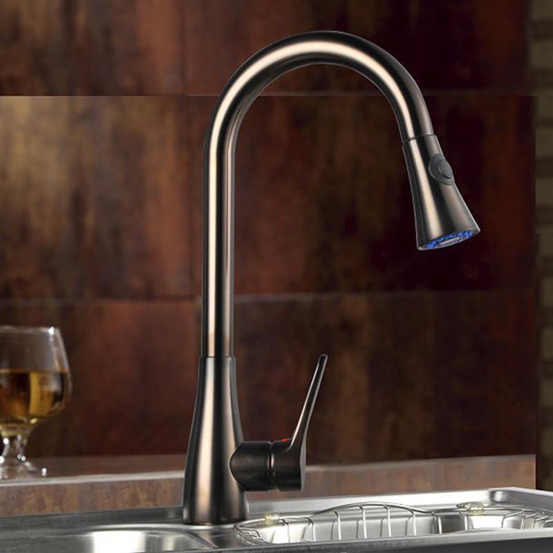 Смеситель для кухни. Модель RD-510. коричневый глянец