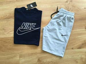 Мужской летний комплект Nike (шорты + футболка) Все размеры