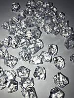 Кристаллы, декоративные осколки, искусственный декоративный лед  Прозрачные (50шт)