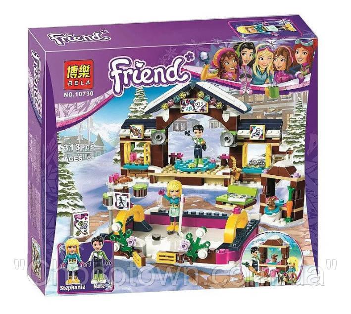 """Конструктор Bela 10730 (Аналог Lego Friends 41322) """"Горнолыжный курорт: каток"""" 313 деталей KK"""