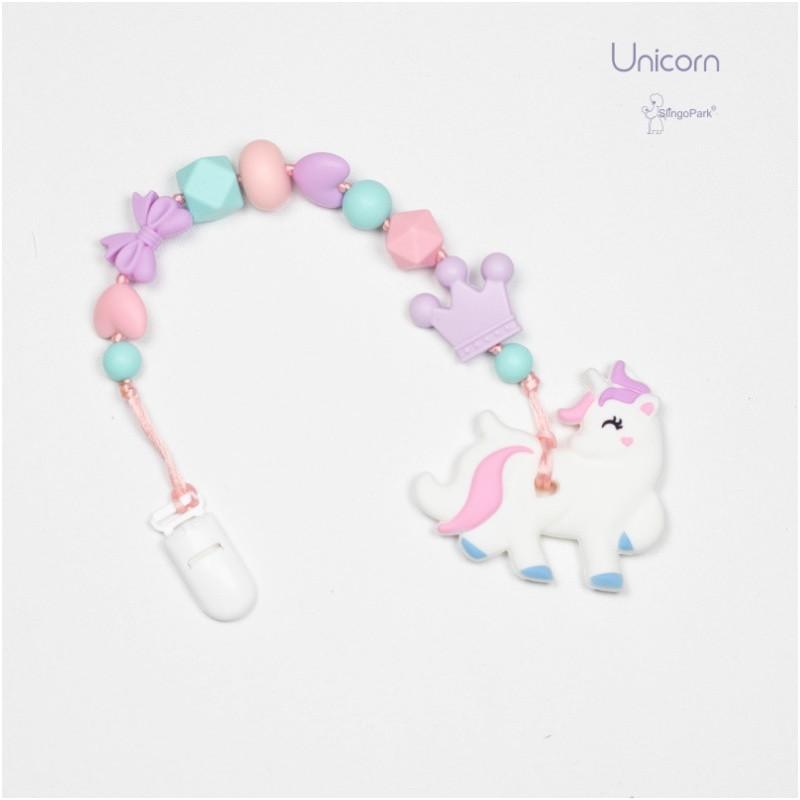 Грызунок из пищевого силикона BABY MILK TEETH Unicorn