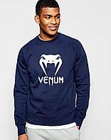 Мужской Свитшот с принтом Venum т.синий