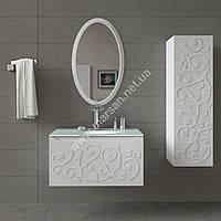 Комплект мебели для ванной комнаты Marsan Marsel 90 см белый