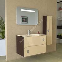 Комплект мебели для ванной комнаты Marsan Carine 90 см коричневый