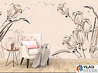 Фотошпалери тюльпани 3Д за Вашими розмірами