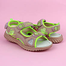 Спортивные сандалии босоножки на девочку цвета Пудра тм Том.м размер 32,33,34,35,36,37