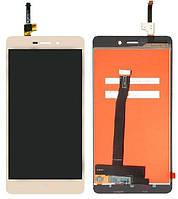Дисплей (екран) для телефону Xiaomi Redmi 3, Redmi 3 Pro, Redmi 3S, Redmi 3S Prime, Redmi 3X + Touchscreen (original) Gold, фото 1