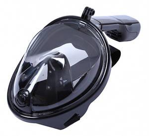 Маска для дайвинга снорклинга Free Easybreath для подводного плавания c креплением для камеры GoPro черная L/XL 148980