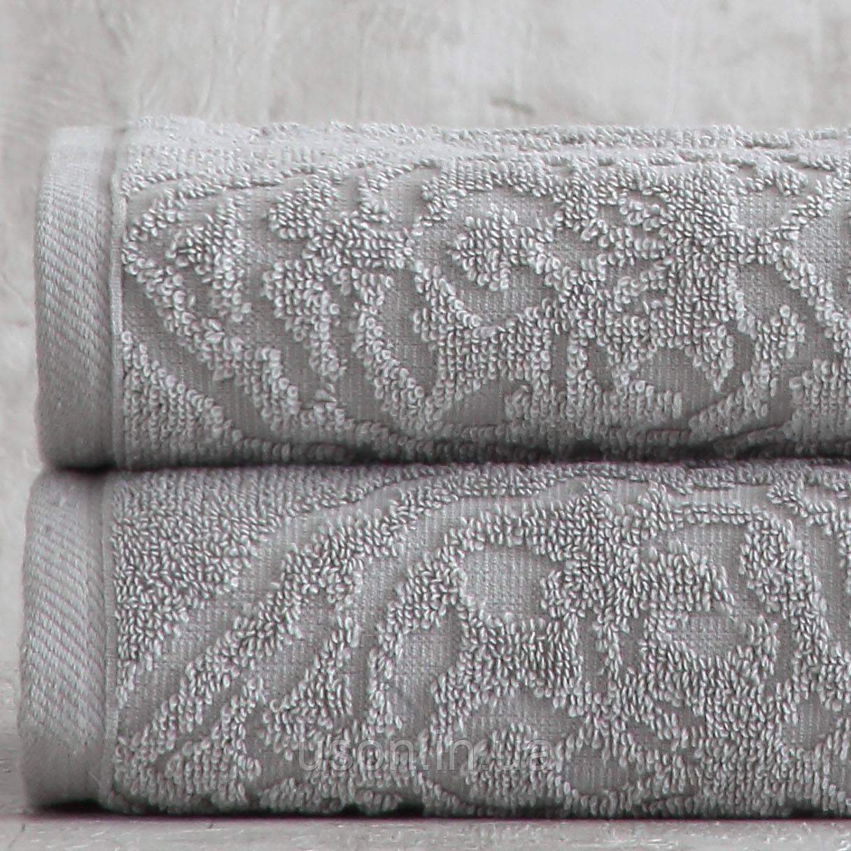 Набор махровых полотенец ( 50*85, 75*150 ) TM Pavia Турция Carina gri
